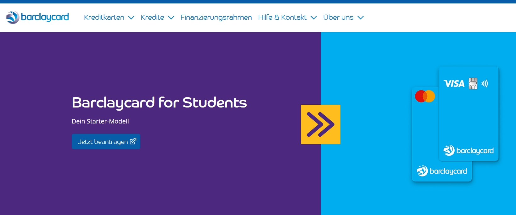 Barclay for Students Kreditkarten