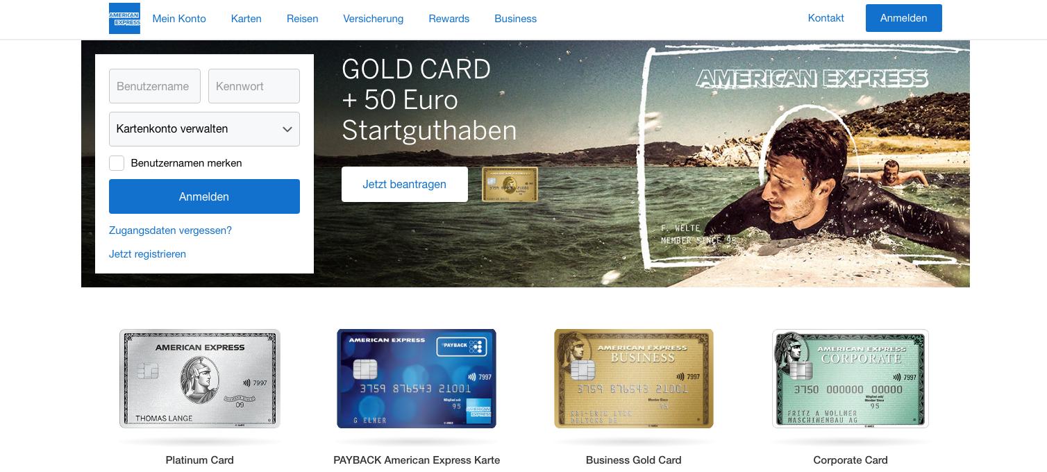 American-express-Kreditkarten