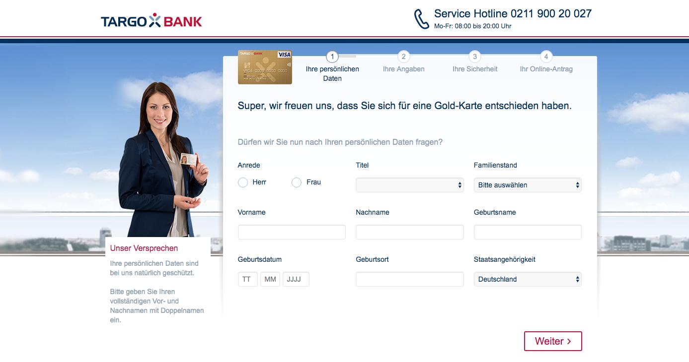 Gold-Kreditkarte-Targobank