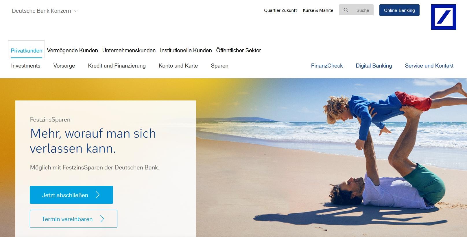 Deutsche Bank Festgeld