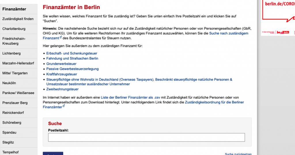finanzamtsnummer-berlin-standort