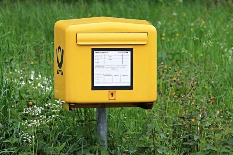 Postkasten um Einschreiben einwerfen zu koennen