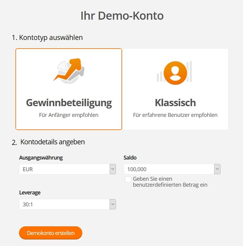 ZuluTrade Demokonto